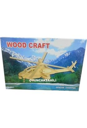 Woodoy Ahşap Puzzle Apache Chopper Bj-181068