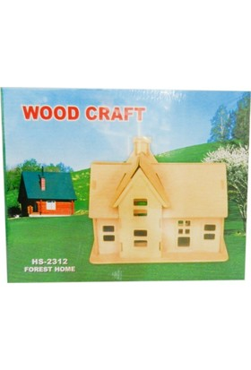 Woodoy Ahşap Puzzle Forest Home Bj-182312