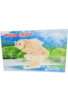 Woodoy Ahşap Puzzle Golden Fısh Bj-182214