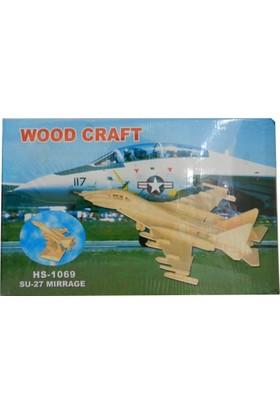 Woodoy Ahşap Puzzle Su-27 Mırrage Bj-181069