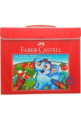 Faber Castell Pastel Boya Plastik Çantalı Tutuculu 24 Renk