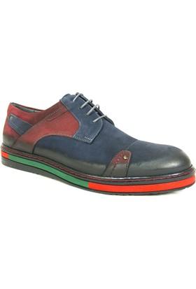 Dropland 3636 Lacivert Bordo Bağcıklı Casual Erkek Ayakkabı