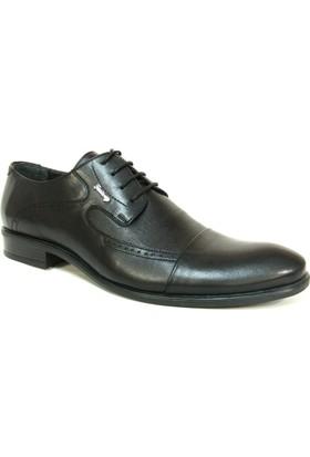 Fastway 1185 Siyah Deri Bağcıklı Erkek Ayakkabı
