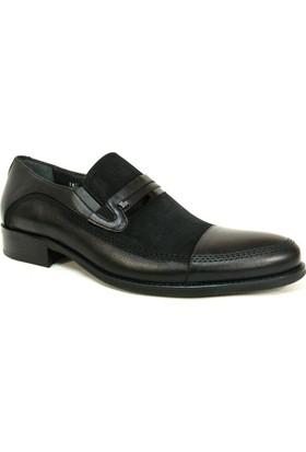 Fastway 1895 Siyah Deri Bağcıksız Erkek Ayakkabı