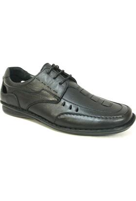 Fierro 099 Siyah Bağcıklı Comfort Erkek Ayakkabı