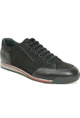 Fierro 1007 Siyah Gri Bağcıklı Casual Erkek Ayakkabı