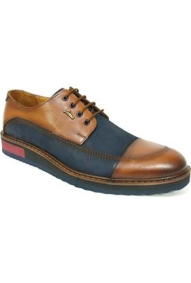 Fierro 1379 Lacivert Taba Bağcıklı Casual Erkek Ayakkabı