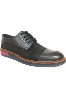 Fierro 1379 Siyah Bağcıklı Casual Erkek Ayakkabı