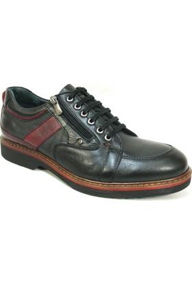 Fierro 1410 Siyah Bordo Bağcıklı Casual Erkek Ayakkabı