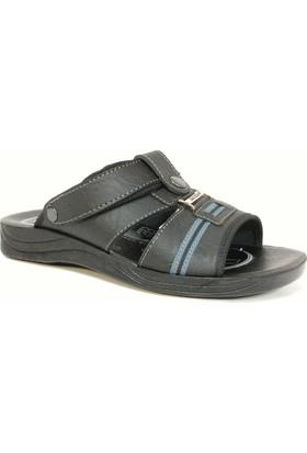 Gezer 5199 Siyah Gri Erkek Anatomik Sandalet Terlik