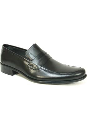 Grotto 114353 Siyah Bağcıksız Erkek Ayakkabı