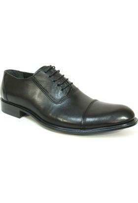 Grotto 115512 Siyah Bağcıklı %100 Deri Erkek Ayakkabı
