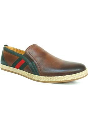 Grotto 183 Taba Yeşil Bağcıksız Sneakers Erkek Ayakkabı