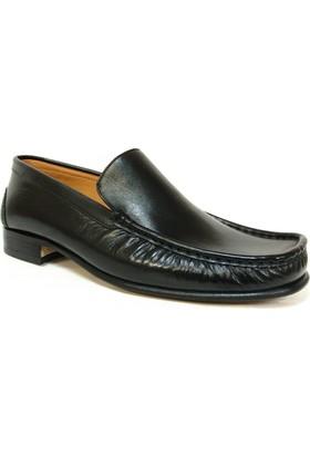 İlgi Siyah Bağcıksız Kösele Erkek Ayakkabı