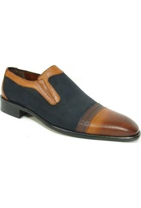 Nevzat Zöhre 1037 Taba Lacivert Bağcıksız Erkek Ayakkabı