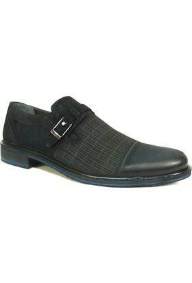 Slope 11708 Lacivert Tokalı Bağcıksız Erkek Ayakkabı