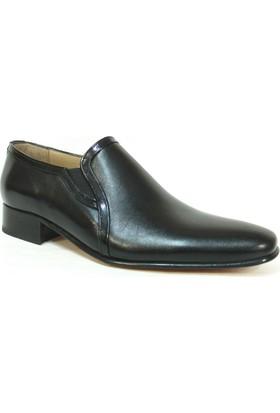 Tekyıldız 1060 Siyah Bağcıksız Kösele Erkek Ayakkabı