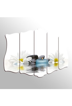 Turkuaz Dekoratif 5 Parçalı Desenli MDF Tablo LM5101241