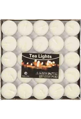 Mumvemum 25 Li Beyaz Tea Light Mum