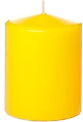 Mumvemum Sarı Kütük Mum ( 8 X 8 )