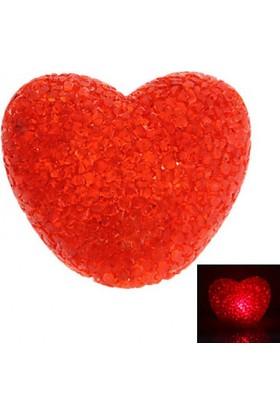 Mumvemum Led Işıklı Slikon Kırmızı Kalp