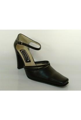 Demirci Siyah Topuklu Bayan Ayakkabı
