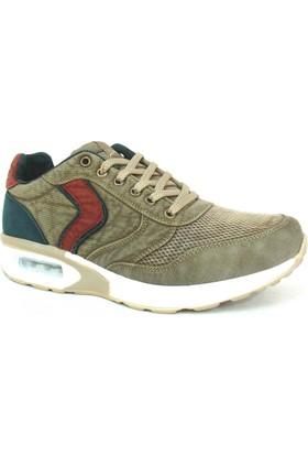 Timer 085 Haki Airmaxx Bağcıklı Erkek Spor Ayakkabı