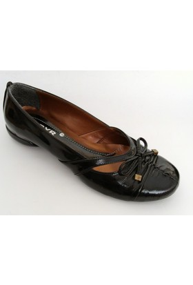 Byr Shoes Siyah Bayan Babet Ayakkabı