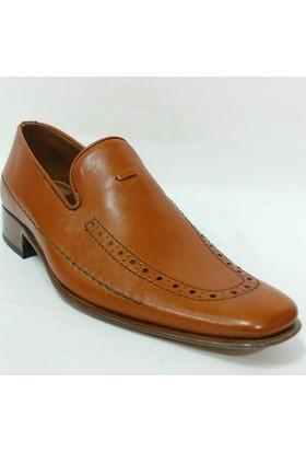 Liseli Çerçi 976 Taba Bağcıksız Kösele Erkek Ayakkabı