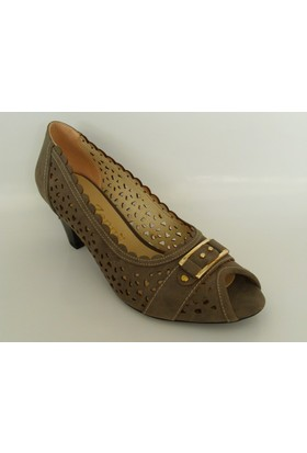 My Zenn 196 Vizon Topuklu Bayan Ayakkabı