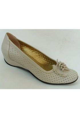 Es Es Collection Bej Bayan Babet Ayakkabı
