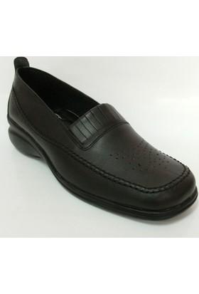 Vedat Aksin 206 Siyah Dolgu Topuk Ayakkabı