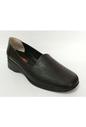Vedat Aksin Siyah Dolgu Topuk Ayakkabı