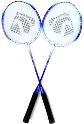 Delta Tek Parça Long-Life Çiftli Badminton Raket Seti ( Full Askılı Çantalı ) - DVR 801