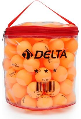 Delta 100 adet Çantalı Turuncu Masa Tenisi Topu (Pinpon Topu)