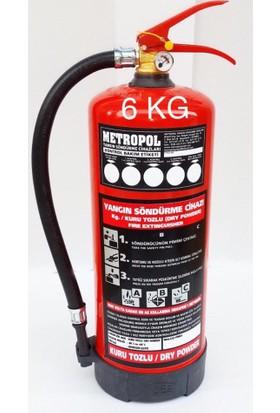Metropol 6 Kg Kuru Kimyevi Tozlu Sürekli Basınçlı Yangın Söndürme Cihazı