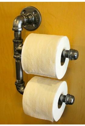 Erkon Metal Retro Tuvalet Kağıdı Stand