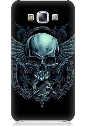 Teknomeg Samsung Galaxy E7 Şeytan Kurukafa Desenli Silikon Kılıf