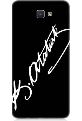 Teknomeg Samsung Galaxy J7 Prime Atatürk İmzası Desenli Silikon Kılıf