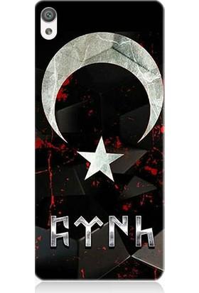 Teknomeg Sony Xperia Z5 Bayrak Ve Türk Desenli Silikon Kılıf