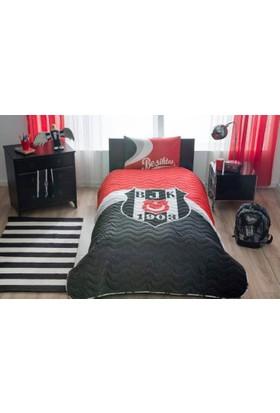 Taç Lisanslı BJK Logo Yatak Örtüsü Seti