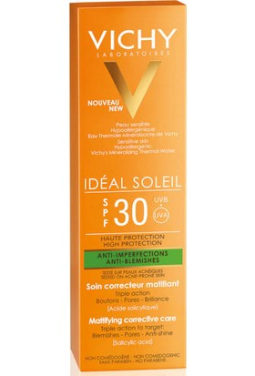 Vichy Ideal Soleil Anti Blemishes Spf30 50 ml