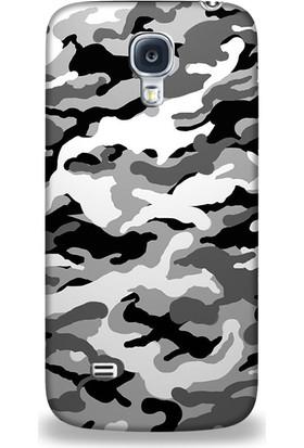 Exclusive Samsung S4 Active Gri Kamuflaj Design Kapak