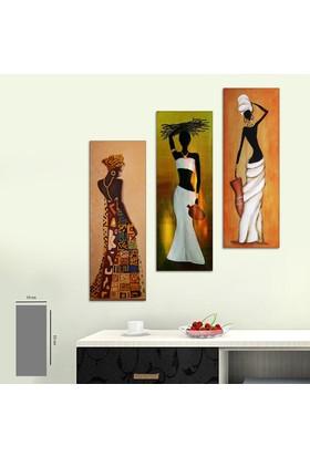 Evinemoda 3 Parça Mdf Tablo - Mısır Firavunları4