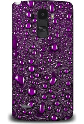 Exclusive Lg G4 Stylus Mor Damlalar Design Kapak