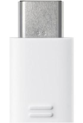 Samsung Beyaz USB Micro USB to Type C Adaptör - EE-GN930BWEGWW