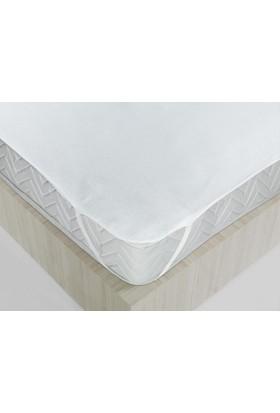 Sıvı Geçirmez Tek Kisilik Sıvı Geçirmez Yatak Koruyucu Beyaz