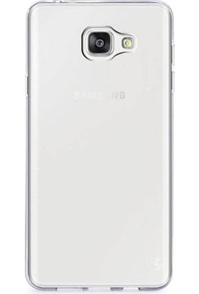 Case 4U Samsung Galaxy C7 Pro Silikon Kılıf Şeffaf + Cam Ekran Koruyucu