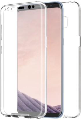 Case 4U Samsung Galaxy S8 Kılıf Tam Full Koruma 360 Clear Soft Şeffaf