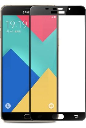 Case 4U Samsung Galaxy A7 2016 Full Kapatan Cam Ekran Koruyucu Siyah